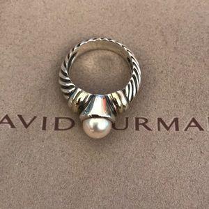 David Yurman pearl ting